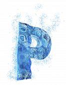 Digital 3D Illustration of a liquid 3D Character poster