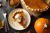 Homemade Pumpkin Pie for Thanksgiving Ready to Eat poster