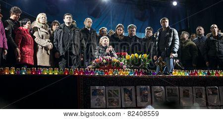Tymoshenko Addresses Crowd On Independence Square In Kiev