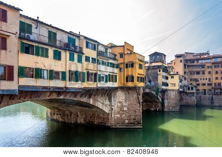 Famous Ponte Vecchio And Skyline In Florence, Tuscany