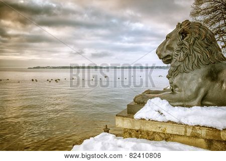 An image of the lions at Tutzing Bavaria Germany