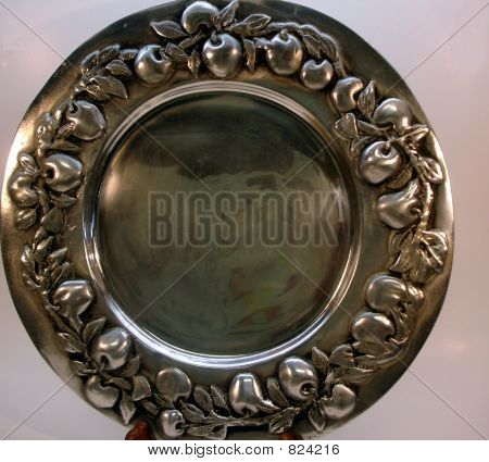 Pewter Apple Platter