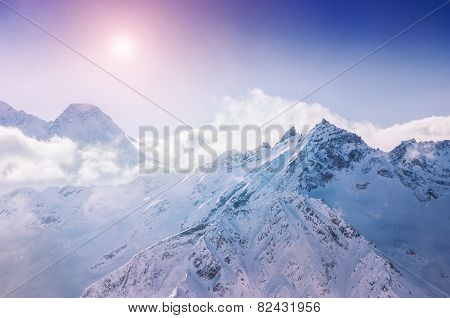 Winter Snow Covered Mountains