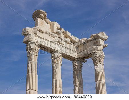 Architectural Parts Temple Of Trajan