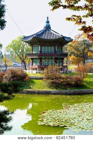 Asian Palace Or Temple Pagoda