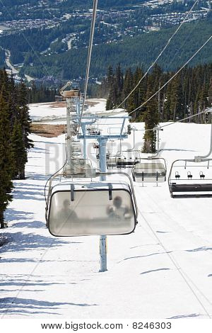 Chair Lifts At Whistler Peak British Columbia Vertical