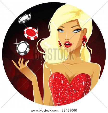 Sexy poker girl