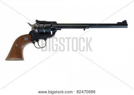 Hayward, CA - February 3, 2015: Ruger Single-six single-action revolver - illustrative editorial