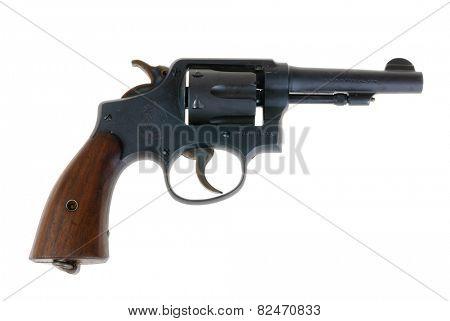 Hayward, CA - February 3, 2015: Smith & Wesson .38 special revolver model; Police Special - illustrative editorial