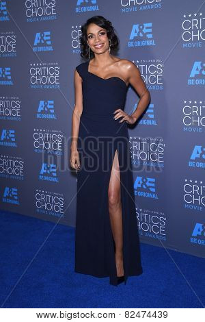 LOS ANGELES - JAN 16:  Rosario Dawson arrives to the Critics' Choice Awards 2015  on January 16, 2015 in Hollywood, CA
