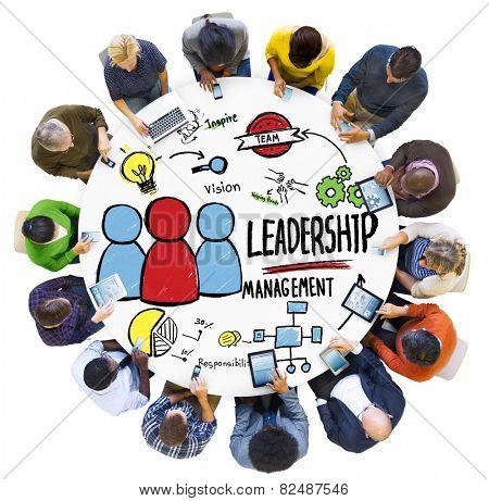 Diversity People Leadership Management Digital Communication Meeting Concept poster