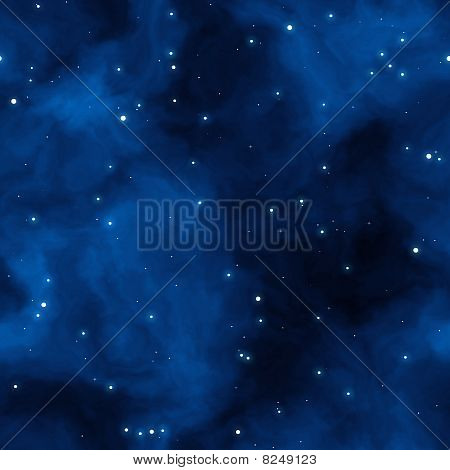 Blue Space Starfield