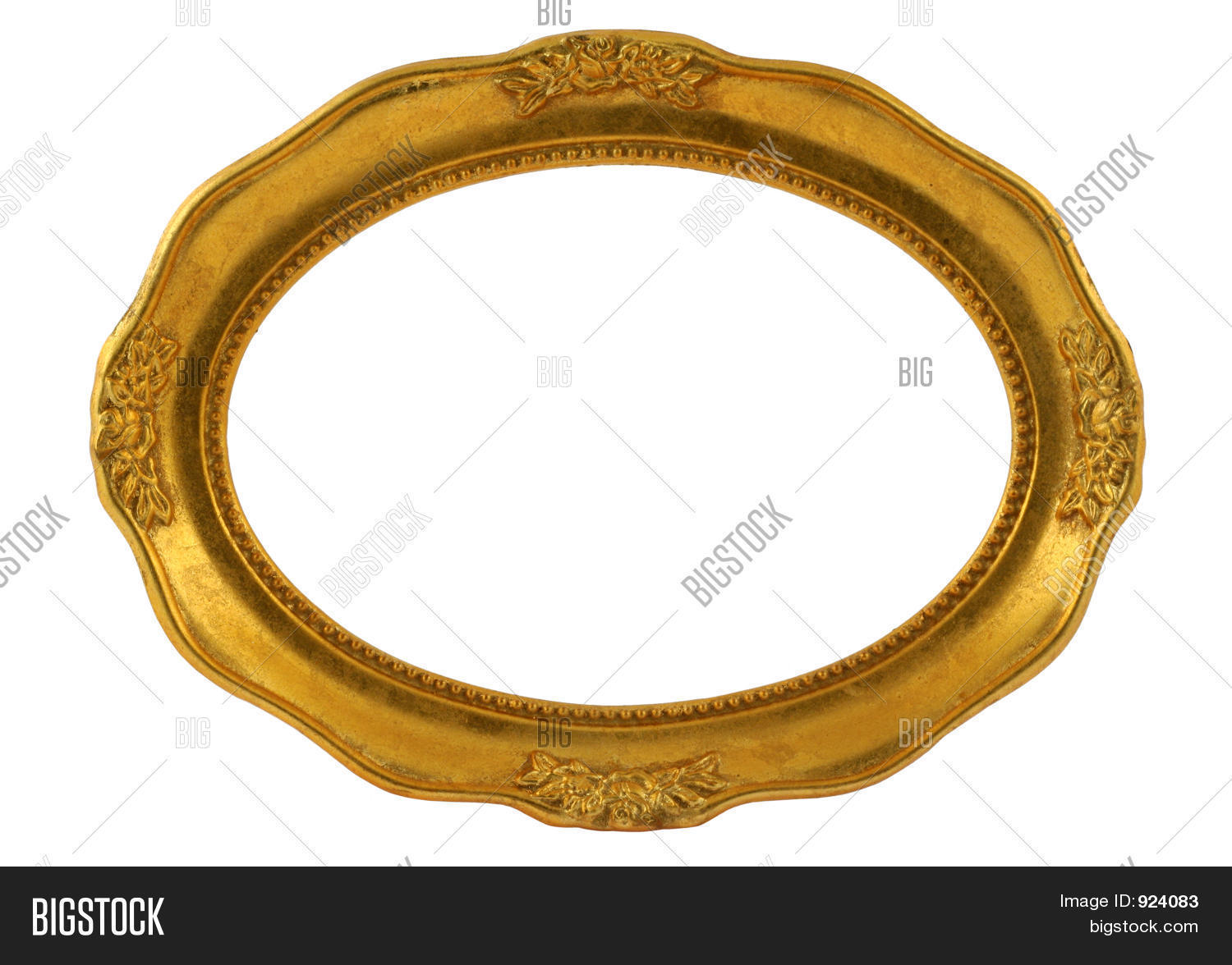 Gilded Oval Frame Image & Photo (Free Trial) | Bigstock