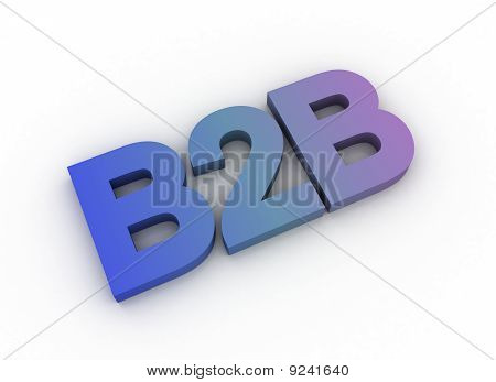 Tricolor Fade 3D Letters Spelling B2B