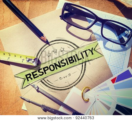 Responsibility Reliability Trust Liability Trustworthy Concept poster