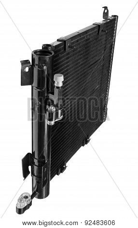 radiator automobile air conditioner on a white background poster