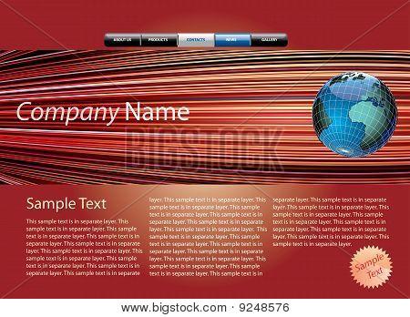 Web Page Globe