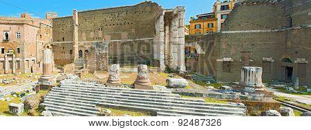 Forum Of Augustus In Rome, Italy.