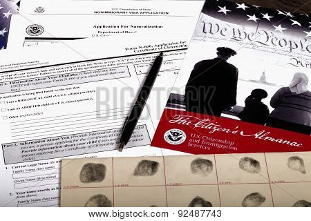 United States Of America Citizenship Application Documents
