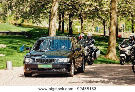 High Ranked European Official Motorcade