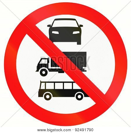 No Lorries, Buses And Cars In Indonesia