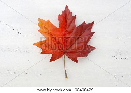 Happy Canada Day Red Silk Maple Leaf