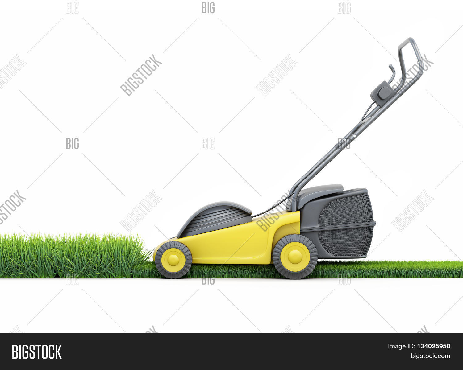 Lawn mower side view