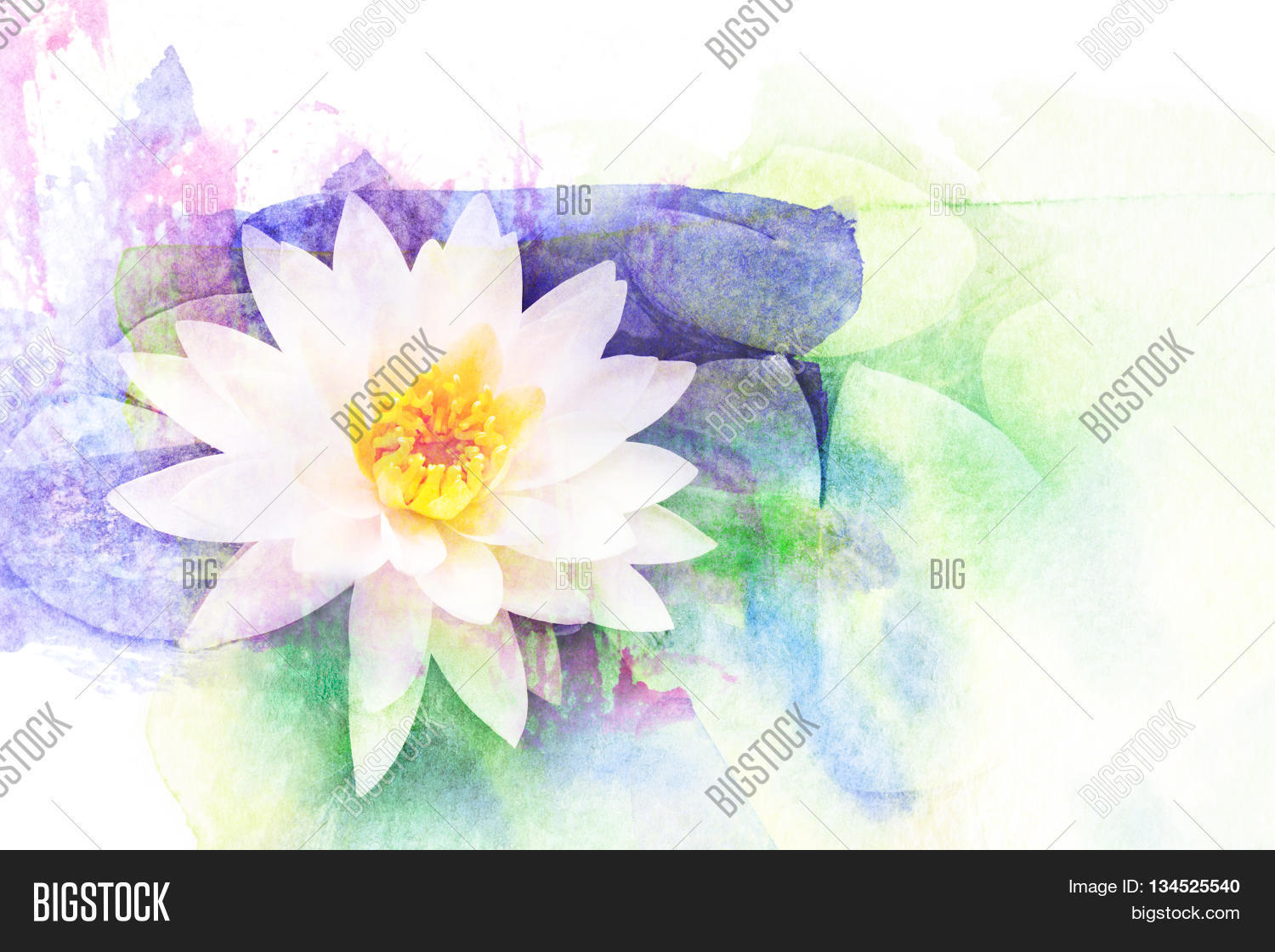 Abstract Watercolor Image Photo Free Trial Bigstock