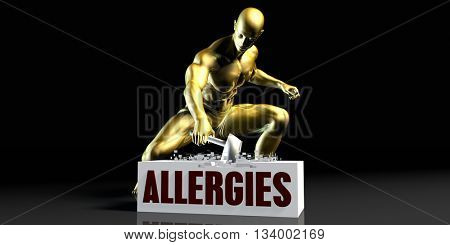 Eliminating Stopping or Reducing Allergies as a Concept 3d Illustration Render