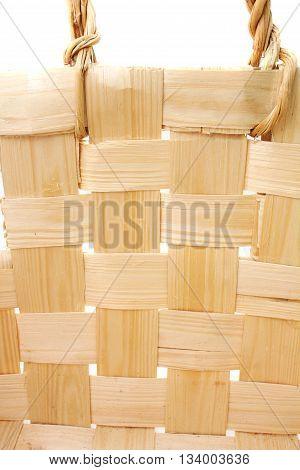 Wooden basket background closeup  wood   yellow texture.