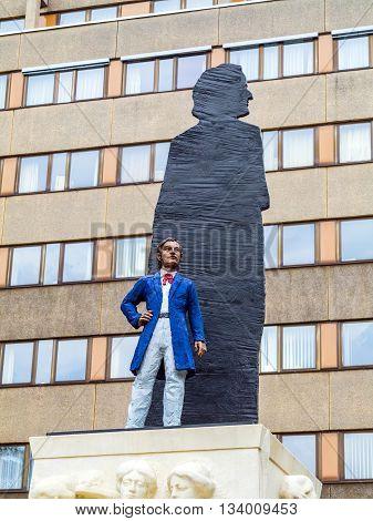 LEIPZIG, GERMANY - JUNE 3, 2014: statue of Richard Wagner in Leipzig