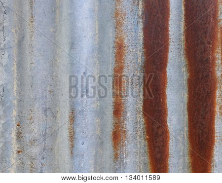Old Rusty Galvanized Zinc. Texture Background