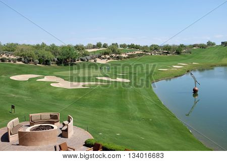 SCOTTSDALE, ARIZONA - JUNE 11, 2016: Westin Kierland Resort and Spa Golf Course. The luxury resort is located in Scottsdale, Arizona.