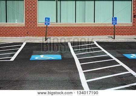 handicap sign in parking area for design