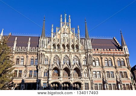 City Hall Of Munich At The Marienplatz