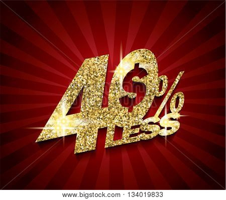 Golden Sale concept vector banner. sale layout design. rich and fashion vector illustration