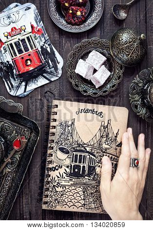 Turkish Delights, Cards And Notebook With Istanbul