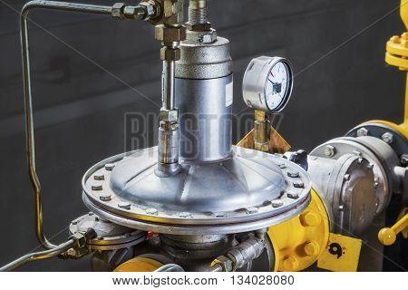 Industrial gas pressure regulator (membrane in a boiler-house