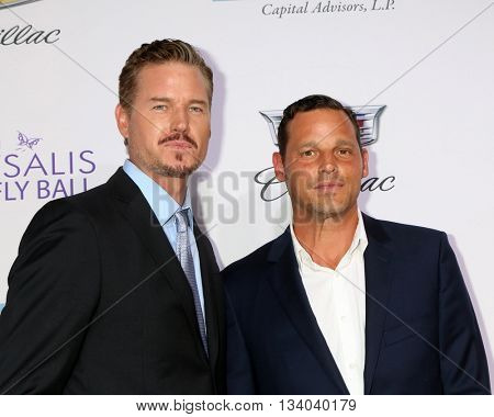 LOS ANGELES - JUN 11:  Eric Dane, Justin Chambers at the 15th Annual Chrysalis Butterfly Ball at the Private Residence on June 11, 2016 in Brentwood, CA