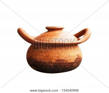 Pot of Asian on a white background.