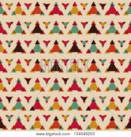 retro seamless triangle pattern geometric vintage style