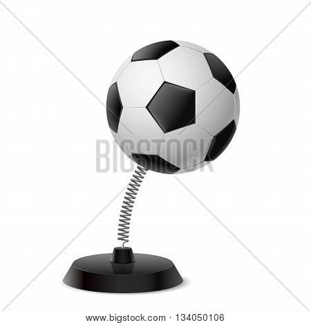 Table souvenir in form of football ball on spring