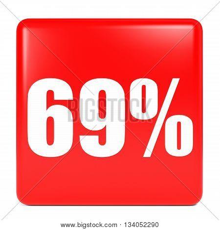 Discount 69 Percent Off. 3D Illustration.