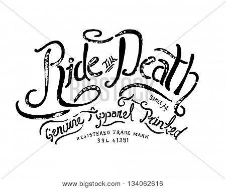 handmade font motorcycle race typography  2