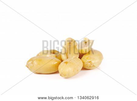 Peanuts Close Up Isolated On White Background