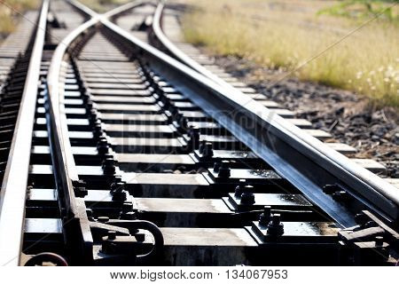 Railroad in thailandbig and long railroadgood railroad