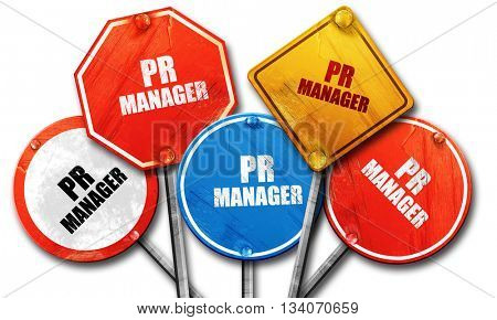 pr manager, 3D rendering, rough street sign collection