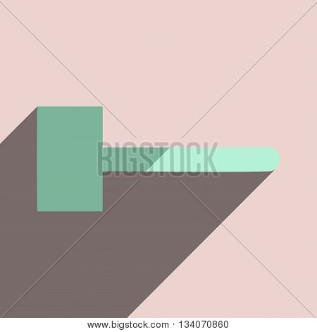 Flat icons with shadow of mallet. Vector illustration
