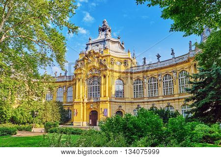 Vajdahunyad Castle (hungarian-vajdahunyad Vara) Is A Castle In The City Park Of Budapest, Hungary.