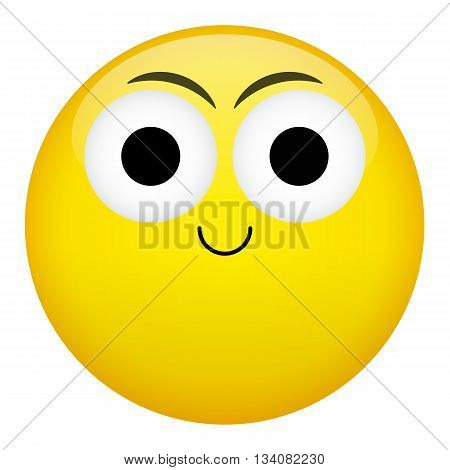 Smile laugh frown criminal evil emotion. Emojiillustration.